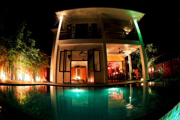 Namkha Villa At Night